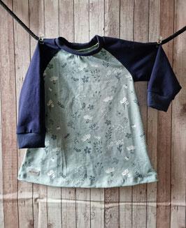Tunika lang Arm Blumenwiese blau 92