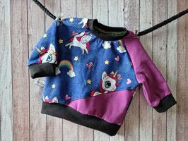 Pullover Einhorn Regenbogen Jeans dunkelblau 62
