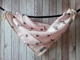 Nuscheli aus Musselin Stoff Fahrrad rosa ca. 39x39cm
