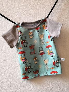 T-Shirt Tiere Regen, Sonne...mint  92