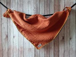 Nuscheli aus Musselin Stoff Uni braun ca. 49x49cm