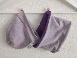 Beanie & Loop Violett Loop ca. 40cm / Beanie ca. 34-38 cm