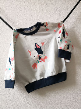 Pullover Dog Girly grau 86