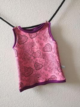Träger Shirt Einhorn pink  86
