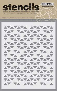 Hero Arts/BasicGrey Triangle Patterned Stencil