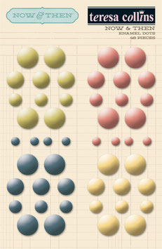 Teresa Collins Now & Then Enamel Dots