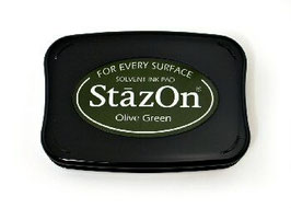 StazOn Ink Pad: Olive Green
