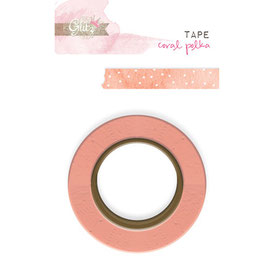 Glitz Design Washi Tape - Hello Friend Coral Polka