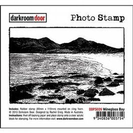 Darkroom Door Photo Stamp: Wineglass Bay