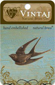 Vintaj Natural Brass Diving Bird (P0039R)