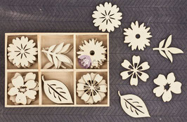 Prima Wood Icons In A Box: Flower L (9938)
