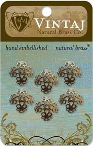 Vintaj Natural Brass 16mm Filigree Bead Cap