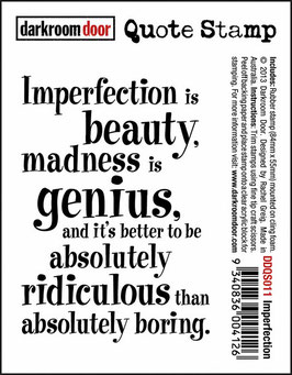 Darkroom Door Quote Stamp: Imperfection