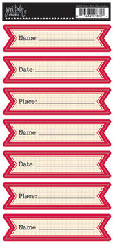Jenni Bowlin Banner Stickers - Name Date Place