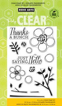 Hero Arts Clear Stamps: Dauber Bunch CL751