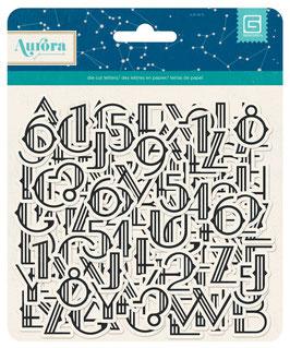 BasicGrey Aurora Chipboard Alphas