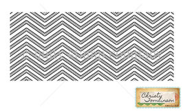 Christy Tomlinson SHE-art Texture Stamp - Urban Chevron
