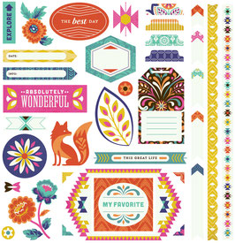 BasicGrey Grand Bazaar 12x12 Element Stickers