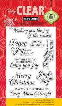 Hero Arts Clear Stamps: Merry Christmas Messages