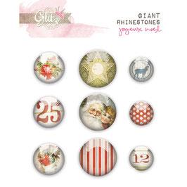 Glitz Design Joyeux Noel Giant Rhinestones