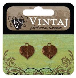 Vintaj Artisan Copper Teensie Nouveau Leaf (CDP0004R)