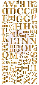 Prima Wood Veneer Alphabets : Light