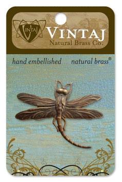 Vintaj Natural Brass Art Deco Dragonfly