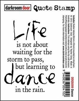 Darkroom Door Quote Stamp: Dance