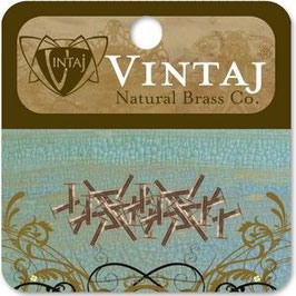 "Vintaj Natural Brass 1/4"" Nail Head Rivets (RV010R)"
