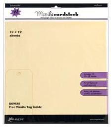 Inkssentials 12x12 Manila Cardstock