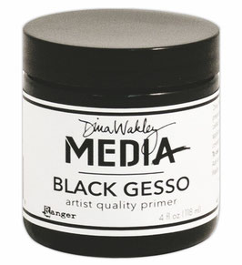 Dina Wakley Media Line Black Gesso 4oz jar