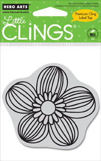 Hero Arts Clings - Small Bold Line Flower