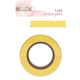 Glitz Design Yours Truly Washi Tape - Yellow Polka