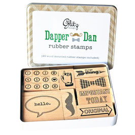 Glitz Design Dapper Dan Stamp Tin