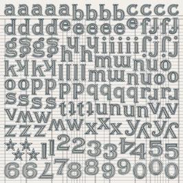 Jenni Bowlin Large Alpha Stickers: Black Tiny Dot