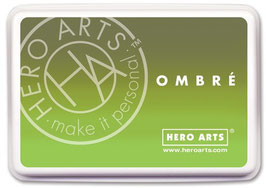 Hero Arts Ombre Ink Pad: Lime to Forever Green