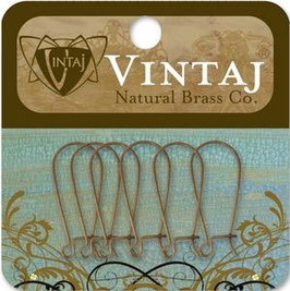 Vintaj Natural Brass 20x9mm Arched Ear Wire