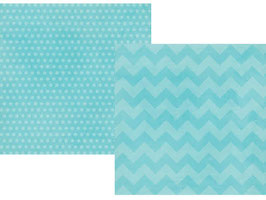 Simple Stories Daily Grind: Teal Chuncky Chevron/Dots
