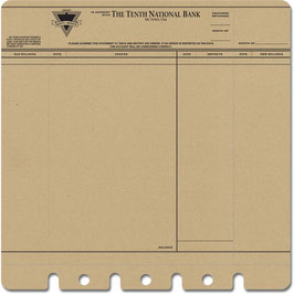 Jenni Bowlin Die-cut & Perforated - Bank Statement Kraft