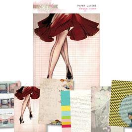 Glitz Design Cashmere Dame Paper Layers