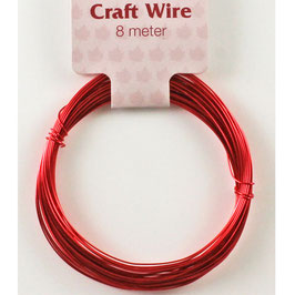 Craft Wire 24 guage (0.5mm) - Red