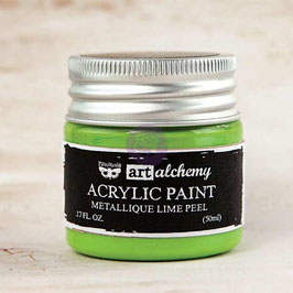 Finnabair Art Alchemy Acrylic Paint: Metallique Lime Peel
