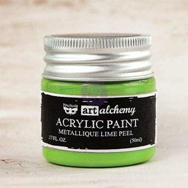 Finnabair Art Alchemy Acrylic Paint: Metallique Lime Peel