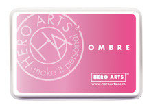 Hero Arts Ombre Ink Pad: Pink to Red