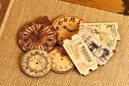 Prima Wood Clocks & Tickets - Tea-Thyme