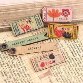 Prima Wood Tickets - Doodle Deux