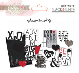 Glitz Design Black & White Whatnots