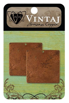 Vintaj Artisan Copper Altered Blanks - 29.5mm Copper Square