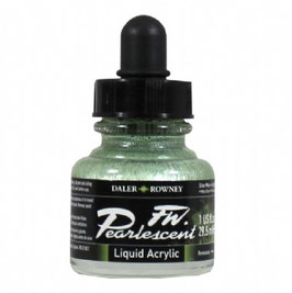 DR Pearlescent Acrylic Ink - Silver Moss