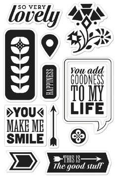 BasicGrey Clear Stamp Set: You Make Me Smile